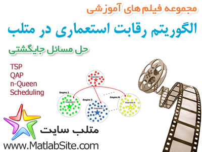 فیلم آموزشی جامع حل مسائل جایگشتی با استفاده از الگوریتم رقابت استعماری (به زبان فارسی)