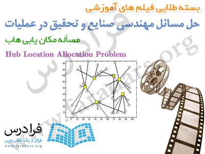 فیلم آموزشی مکان یابی هاب یا Hub Location Allocation در متلب (به زبان فارسی)