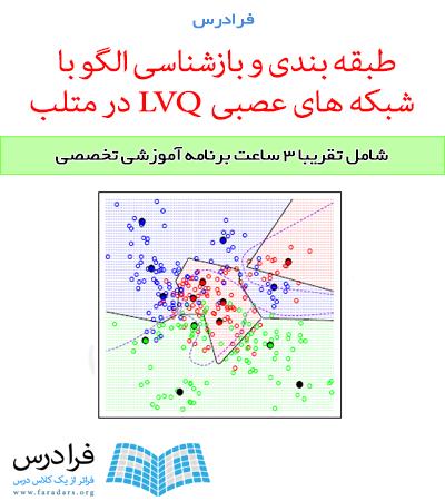 آموزش طبقه بندی و بازشناسی الگو با شبکه های عصبی LVQ در متلب