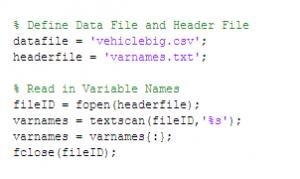 تعریف دادههای ورودی