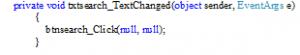 رخداد TextChanged