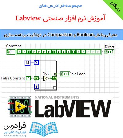 دانلود رایگان معرفی بخش Boolean و Comparison در تولکیت برنامه سازی LabVIEW