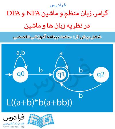 آموزش گرامر، زبان منظم و ماشین NFA و DFA در نظریه زبان ها و ماشین (مرور – تست کنکور ارشد)