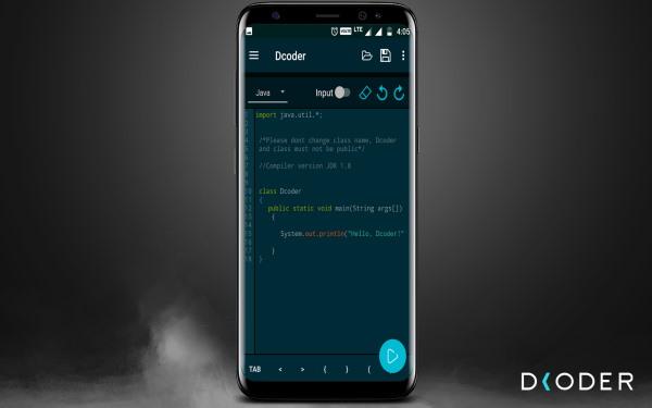 تصویر برای معرفی ویرایشگر Dcoder به عنوان یکی از ۸ ابزار ویرایشگر کد مناسب برای اندروید