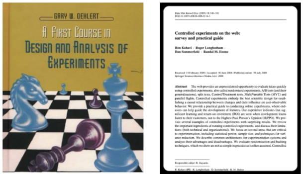 تصویر بخش معرفی کتاب های مربوط به Experimental Design در مقاله معرفی ۲۲ کتاب رایگان برای علم داده