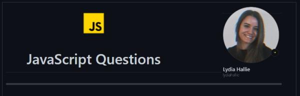 نصویری از مخزن گیت هاب سوالات جاوا اسکریپت یا همان JavaScript Questions به عنوان یکی از ۶ مخزن گیت هاب مفید برای برنامه نویسان وب