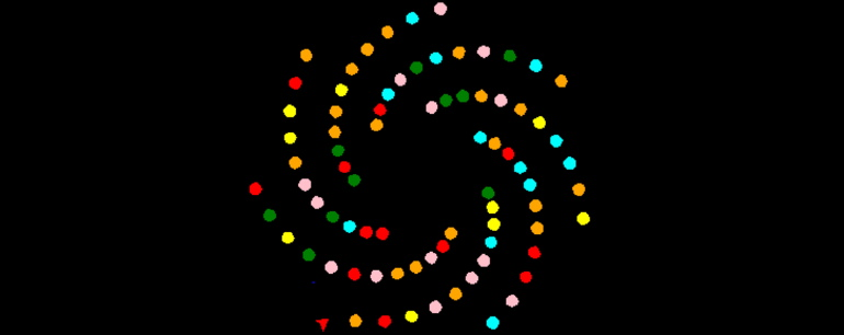 تصویر خروجی مثال استفاده از ماژول Python Turtle در پایتون برای مقاله ۱۰ برنامه جالب پایتون به همراه کد آنها