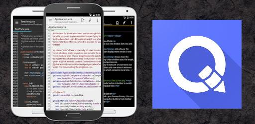 تصویر برای معرفی ویرایشگر QuickEdit به عنوان یکی از ۸ ابزار ویرایشگر کد مناسب برای اندروید