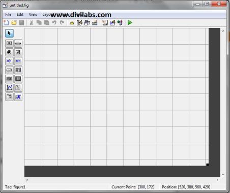تصویر رابط کاربری GUIDE در متلب که در مقاله آموزش ایجاد رابط گرافیکی ساده در متلب — راهنمای کاربردی آمده است.