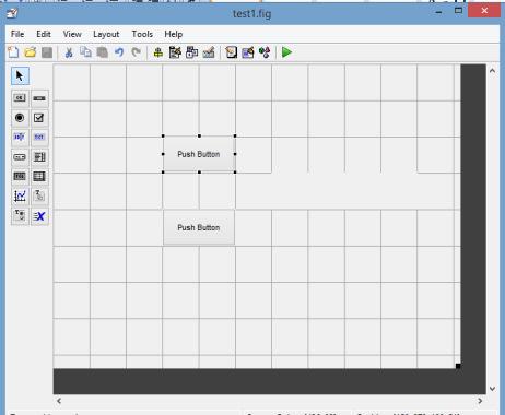 تصویری از ظاهر رابط کاربری گرافیکی در آموزش ایجاد رابط گرافیکی ساده در متلب